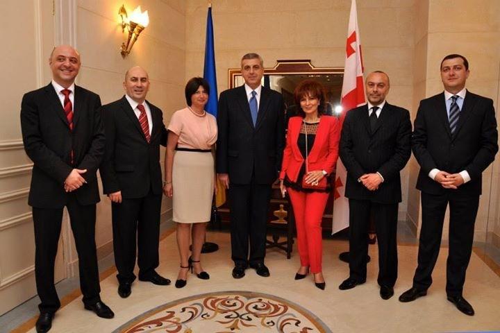 Лали Киладзе и посол Грузии в Украине Григол Катамадзе (2009-2013г.г.)