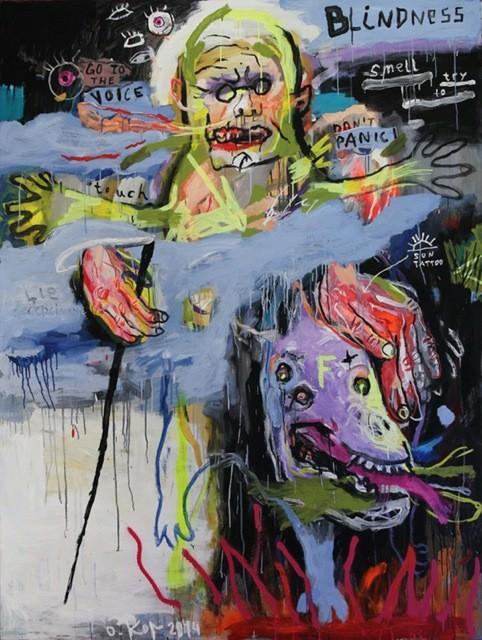 Александр Король. BLINDNESS, 2014 (экспозиция в арт-центре Павла Гудимова Я Галерея, 2014)