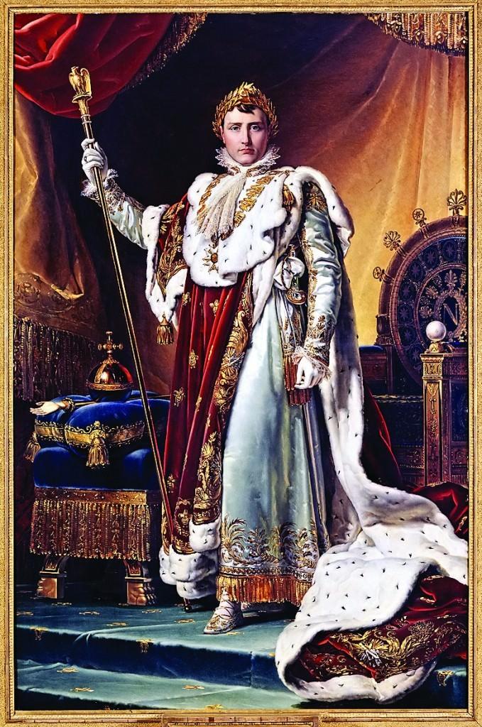 Наполеон (худ. Франсуа Паскаль Симон Жерар). Эфес шпаги украшен алмазом «Регент»