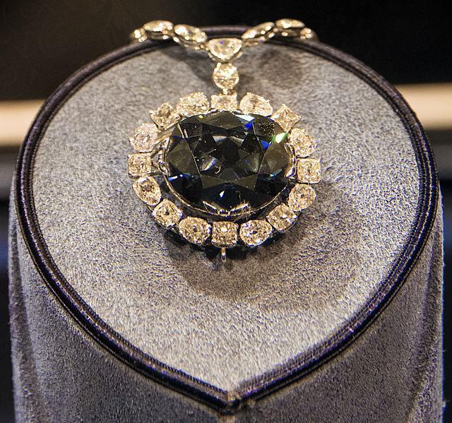 Алмаз Хоупа в экспозиции музея