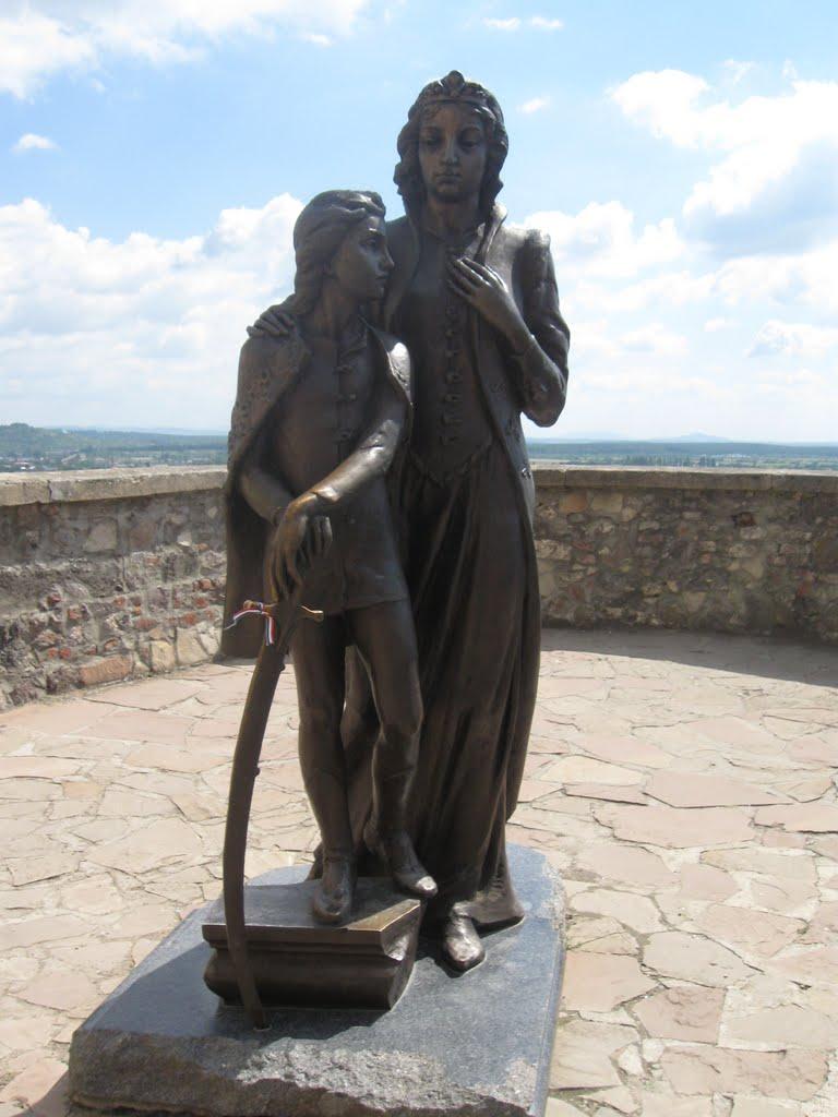 Памятник Илоне Зрине в Мукачевском замке