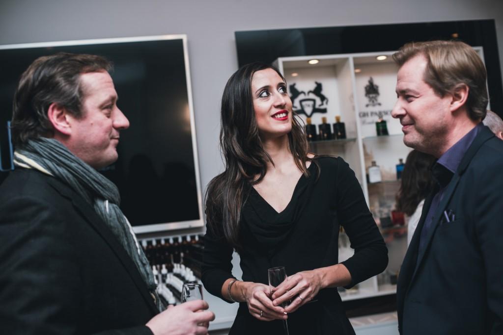 Основатель parfum büro Дмитрий Слесарев (справа), Сесиль Зарокян и владелец брендов Jovoy и Jeroboam Франсуа Энен