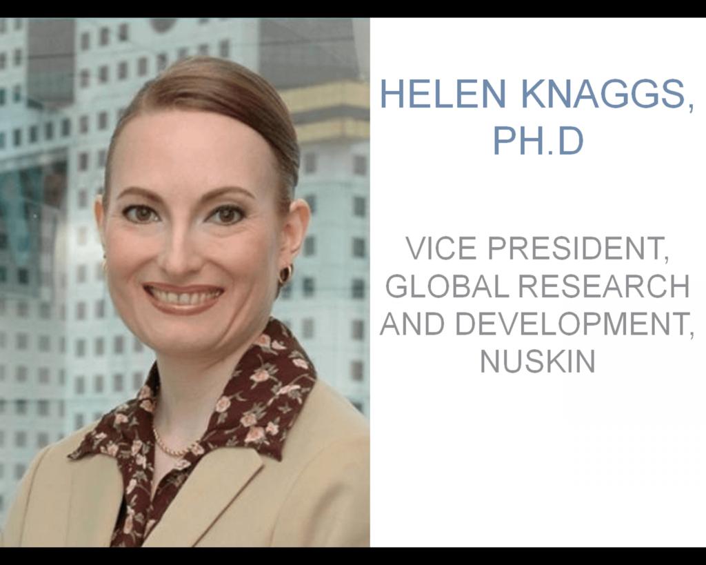 Хелен Наггз, вице-президент по исследованиям и разработкам продукции NUSKINENTERPRISES, INC: