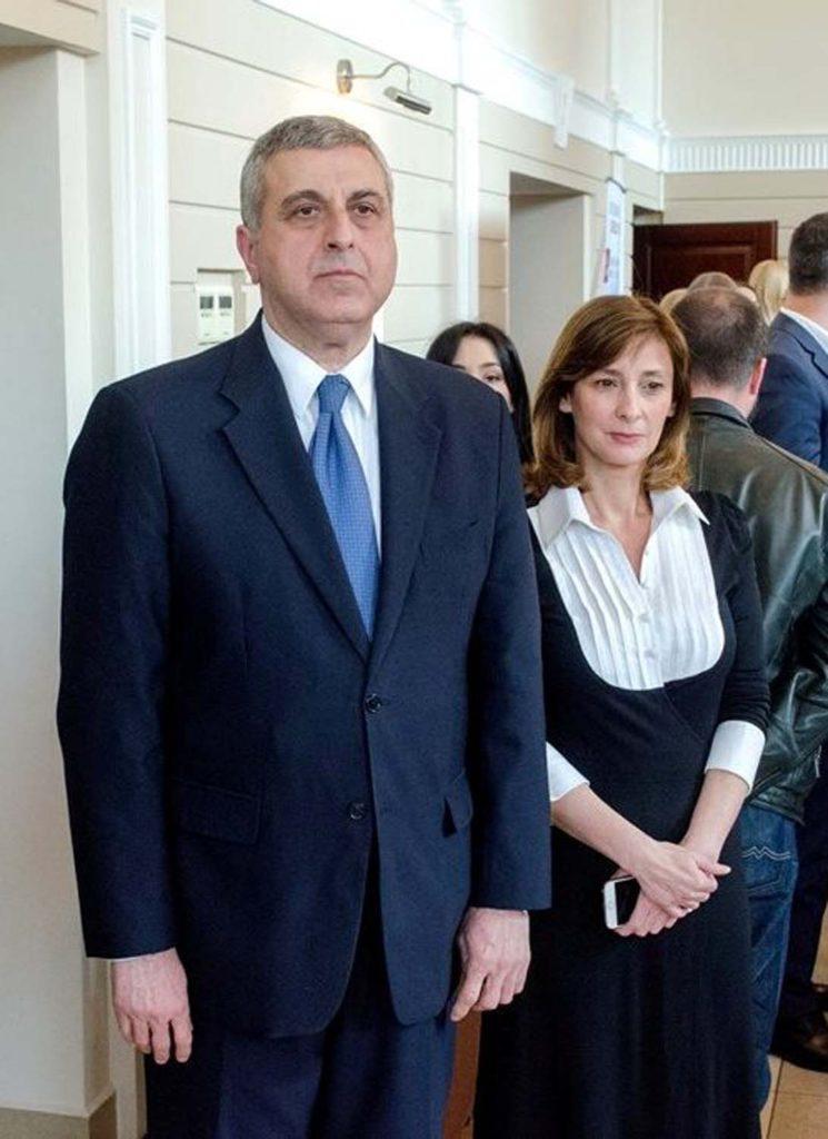 Чрезвычайный и уполномоченный посол Грузии в Украине Михеил Уклеба с супругой Катериной