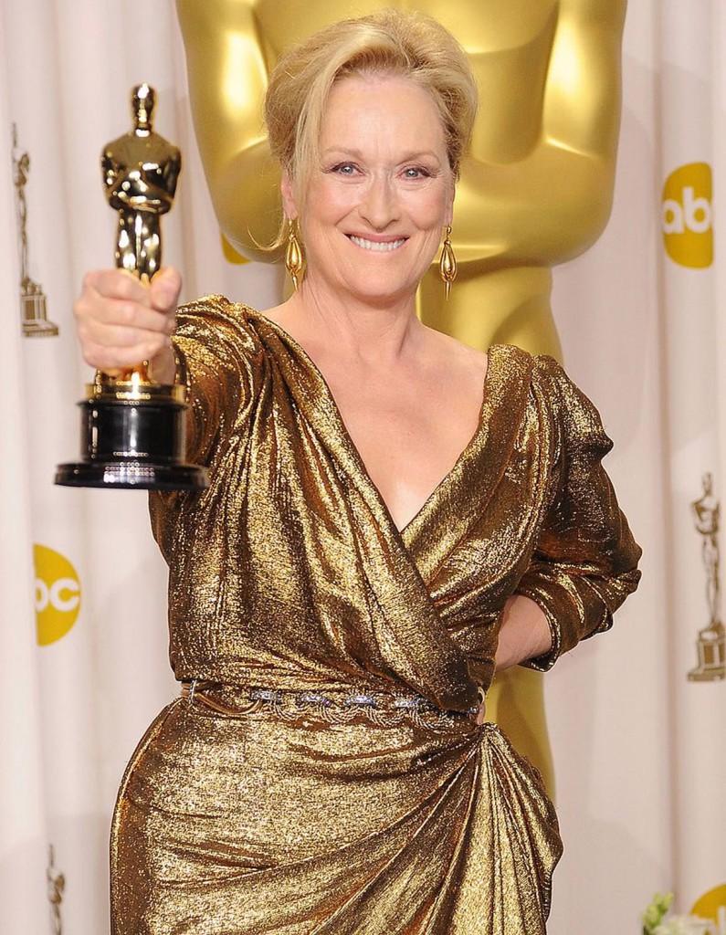 Мерил Стрип чаще других появляется на красных дорожках в платьях Lanvin. На счету актрисы 16 номинаций на премию Американской киноакадемии. В 2012-м она пришла на церемонию в золотом платье этой марки и… за роль Маргарет Тэтчер в «Железной леди» получила свой третий Оскар!